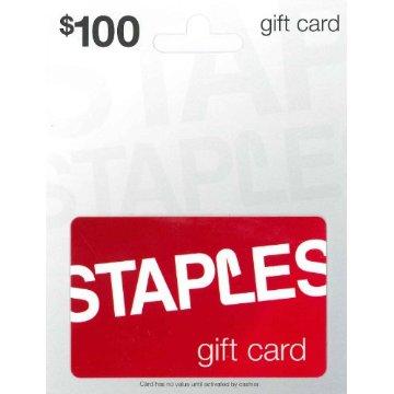 Staples $100 Gift Card