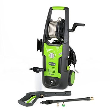 GreenWorks GW1702 1,700 PSI 1.2 GPM 13AMP Electric Pressure Washer with Hose Reel