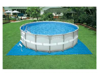 Intex 16' x 48 Ultra Frame Pool Set w/ Sand Filter Pump (28323EH)