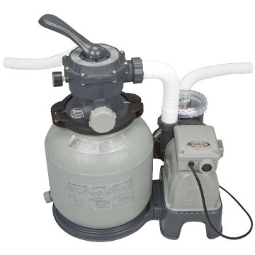 Intex 28645EG Krystal Clear Sand Filter Pump for Above Ground Pools (110-120 Volt with GFCI, 2100 Gallon)