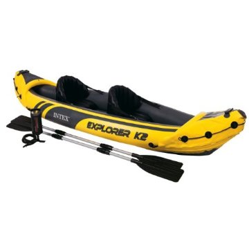 Intex Explorer K2 2-Person Inflatable Kayak Set with Oars and Air Pump