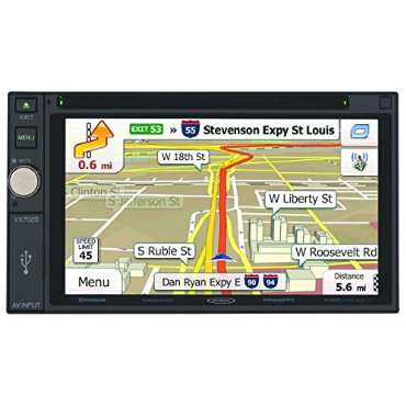 Jensen VX7020 6.2 Touchscreen 2-DIN MultiMedia Navigation Receiver with Bluetooth and Ext Mic/USB/App Control