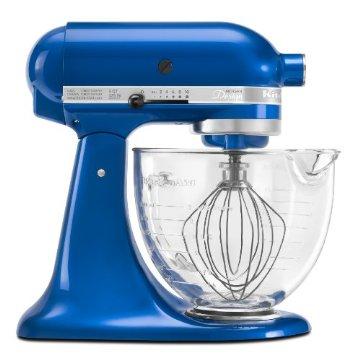 KitchenAid KSM155GBEB Artisan Design Series Mixer with Glass Bowl (Electric Blue)