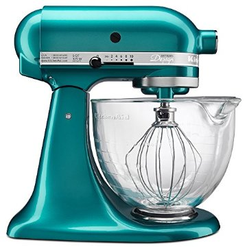 KitchenAid KSM155GBSA Artisan Design Series 5-Qt. Mixer with Glass Bowl (Sea Glass)