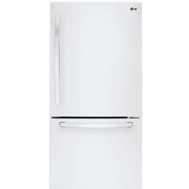 LG LDC24370SW 23.8 Cu. Ft. Bottom Freezer Refrigerator (Smooth White)