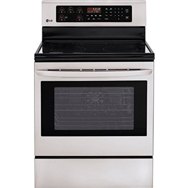 LG LRE3083ST 30 Stainless Steel Electric Smoothtop Range - Convection