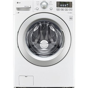 LG WM3170CW 4.3 Cu. Ft. Stackable Front Load Washer (White)