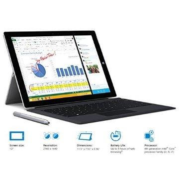 Microsoft Surface Pro 3 128GB with Black Type Keyboard (Intel Core i5, 4GB Ram, 12 Touchscreen, Windows 8.1)