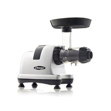 Omega 8007 Heavy Duty Masticating Juicer (Matte Silver)