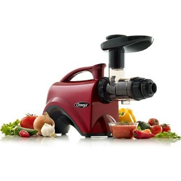 Omega NC800HDR Slow Speed Nutrition Center Masticating Juicer (Red)