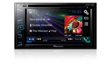 Pioneer AVH-270BT Double DIN DVD Multimedia Receiver with Bluetooth