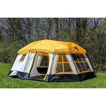 Tahoe Gear Ozark 3-Season 16 Person Large Family Cabin Tent (Orange)