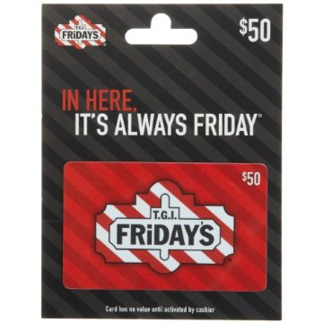 T.G.I Friday's $50 Gift Card