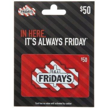 T.G.I Friday's $50 Gift Card