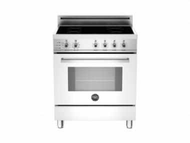 Bertazzoni PRO304INSBI Professional Series 30 Induction Electric Range with 4 Induction Burners, European Convection (Bianco Pure White)