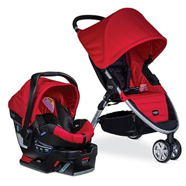 Britax B-Agile 35 Travel System, Red