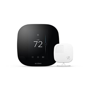 ecobee3 Smarter Wi-Fi Thermostat with Remote Sensor (2nd Gen, Apple HomeKit Enabled)