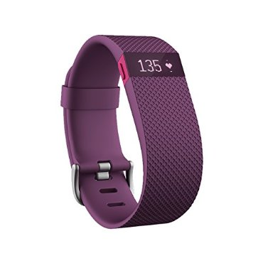 Fitbit Charge HR Wireless Activity Wristband (Plum, Small)