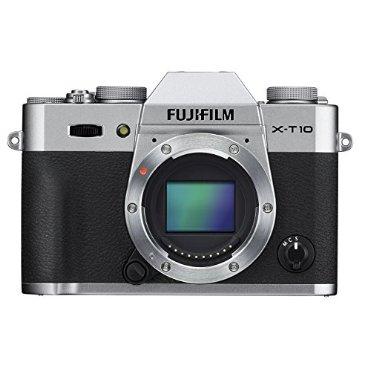 Fujifilm X-T10 Mirrorless Digital Camera (Body Only, Silver)