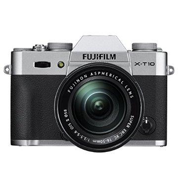 Fujifilm X-T10 Silver Mirrorless Digital Camera Kit with XC 16-50mm F3.5-5.6 OIS II Lens
