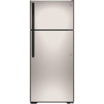 GE GIE18GCHSA 17.5 Cu. Ft. Top Freezer Refrigerator (Silver)