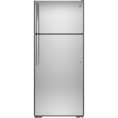 GE GIE18GSHSS 17.5 Cu. Ft. Top Freezer Refrigerator (Stainless Steel)