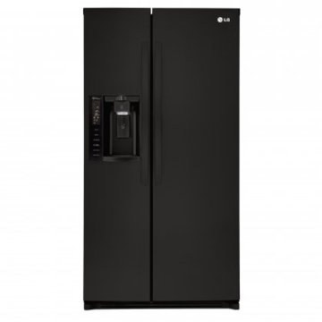 LG LSXS26326B 36 26.2 Cu. Ft. Side-By-Side Refrigerator with Flush-Mount Ice/Water Dispenser (Black)