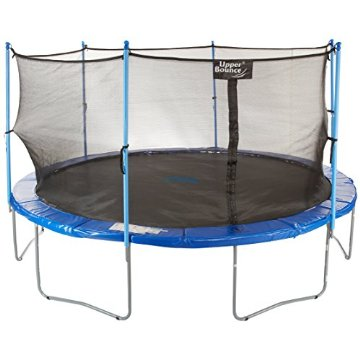 Upper Bounce 14' Complete Trampoline and Enclosure Set Equipped with Easy Assemble Feature