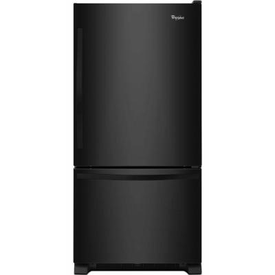 Whirlpool WRB322DMBB 33 Bottom-Freezer Refrigerator (Black)