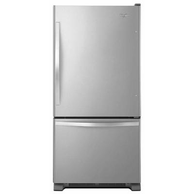 Whirlpool WRB322DMBM 33 Bottom-Freezer Refrigerator (Stainless Steel)