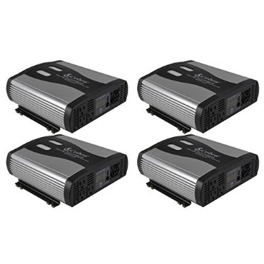 (4) NEW COBRA CPI2575 2500 Watt 12V DC to 120V AC Car Power Inverters w/USB Port