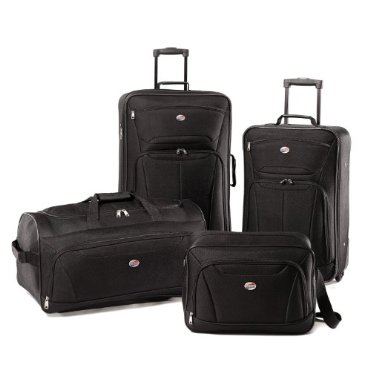 American Tourister Luggage Fieldbrook II 4 Piece Set, Black, One Size