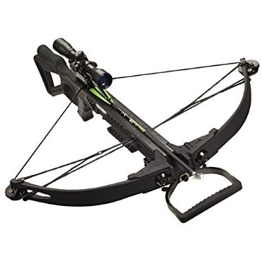 Carbon Express X-Force 350 Crossbow Kit (Rope Cocker, 3 Arrow Quiver, 3 Crossbolts, Rail Lubricant, 3 Practice Points, 4x32 Scope, #20271)
