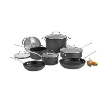 Cuisinart Chef's Classic Non-Stick Hard Anodized 11-Piece Cookware Set (66-11)