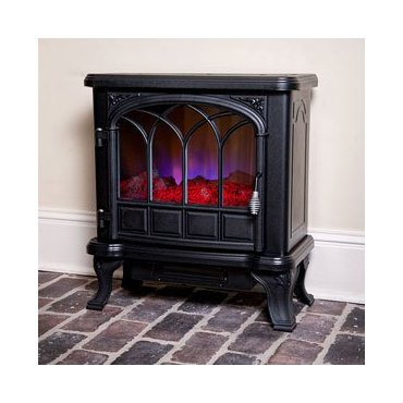 Duraflame DFS-550-20 Classic Flame Electric Fireplace Stove with Remote Control (Black)