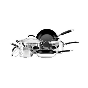 Farberware Reliance Pro 12-Piece Stainless Steel Cookware Set