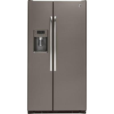 GE GZS22DMJES 36 21.9 Cu. Ft. Counter Depth Side-by-Side Refrigerator (Slate)