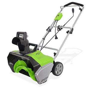 GreenWorks 20 13-Amp Corded Snow Thrower (2600502)