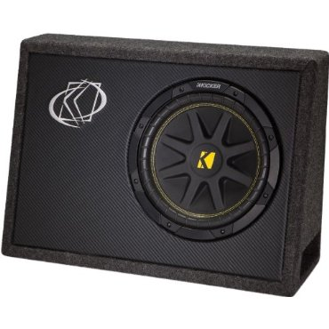 KICKER 10TC104 10 300W TC104 Loaded Car Audio Subwoofer + Sub Box Enclosure
