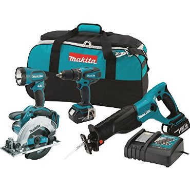 Makita XT406 LXT 18V 4-Tool Cordless Combo Kit