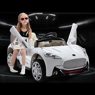 Maserati Style 12V Electric Kids Ride On Car (White)