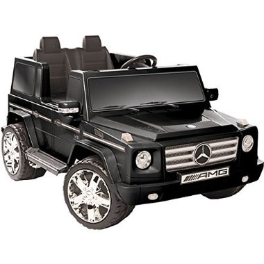 Mercedes Benz G55 AMG Two Seater 12V Battery Powered Ride On by Kid Motorz (Black)