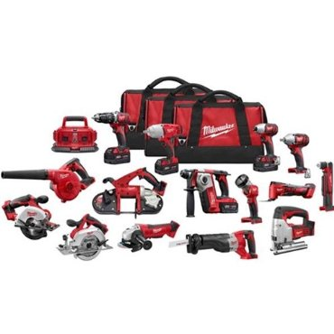 Milwaukee 2695-15 M18 15-Tool Cordless Combo Kit