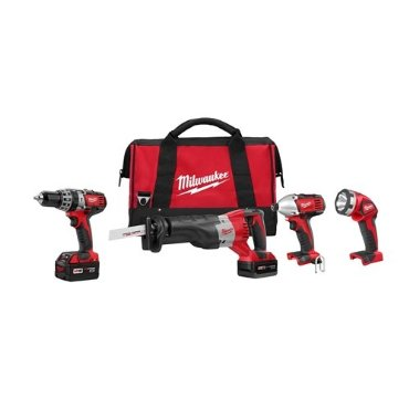 Milwaukee 2696-24 M18 4-Tool Cordless Compact Combo Kit