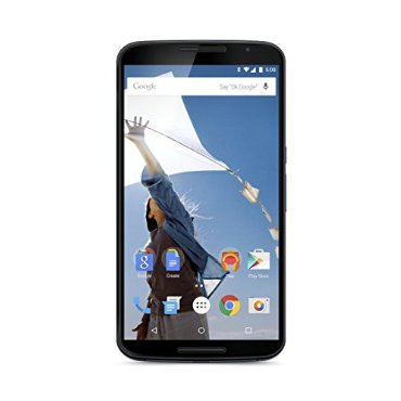 Motorola Nexus 6 Unlocked Cellphone, 64GB, Midnight Blue (U.S. Warranty)