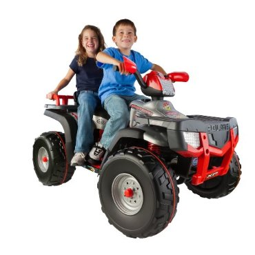 Peg Perego XP850 Polaris Sportsman XP Kids' ATV Ride On (Silver)