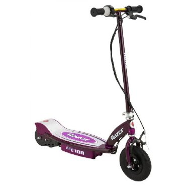 Razor E100 Motorized 24V Electric Scooter (Purple)