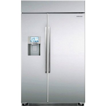 Samsung RS27FDBTNSR Built-in Side by Side Refrigerator, 48, Stainless Steel