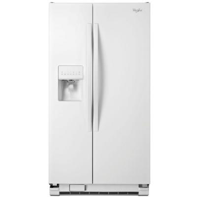 Whirlpool WRS331FDDW 33 Side-By-Side 21 cu. ft. Refrigerator (White)