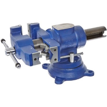 Yost 5 Heavy-Duty Multi-Jaw Rotating Combination Pipe and Bench Vise with 360-Degree Swivel Base and Head (750-DI)